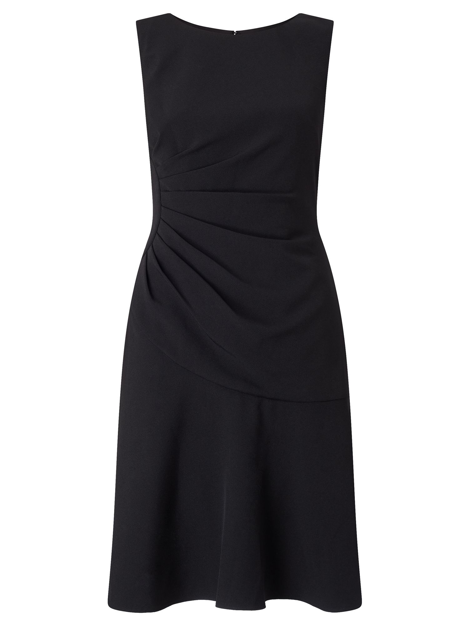 Adrianna Papell Drop waist tailored dress, Black