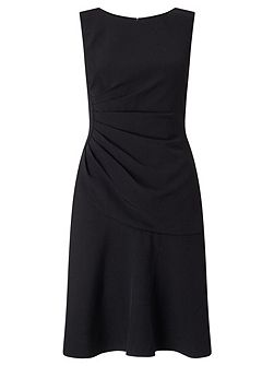 Drop waist tailored dress