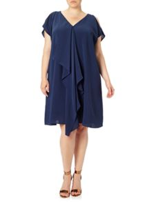 Adrianna Papell Plus Size Cold Shoulder Shift Dress