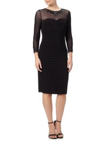 Adrianna Papell Jewel Neck Cocktail Dress