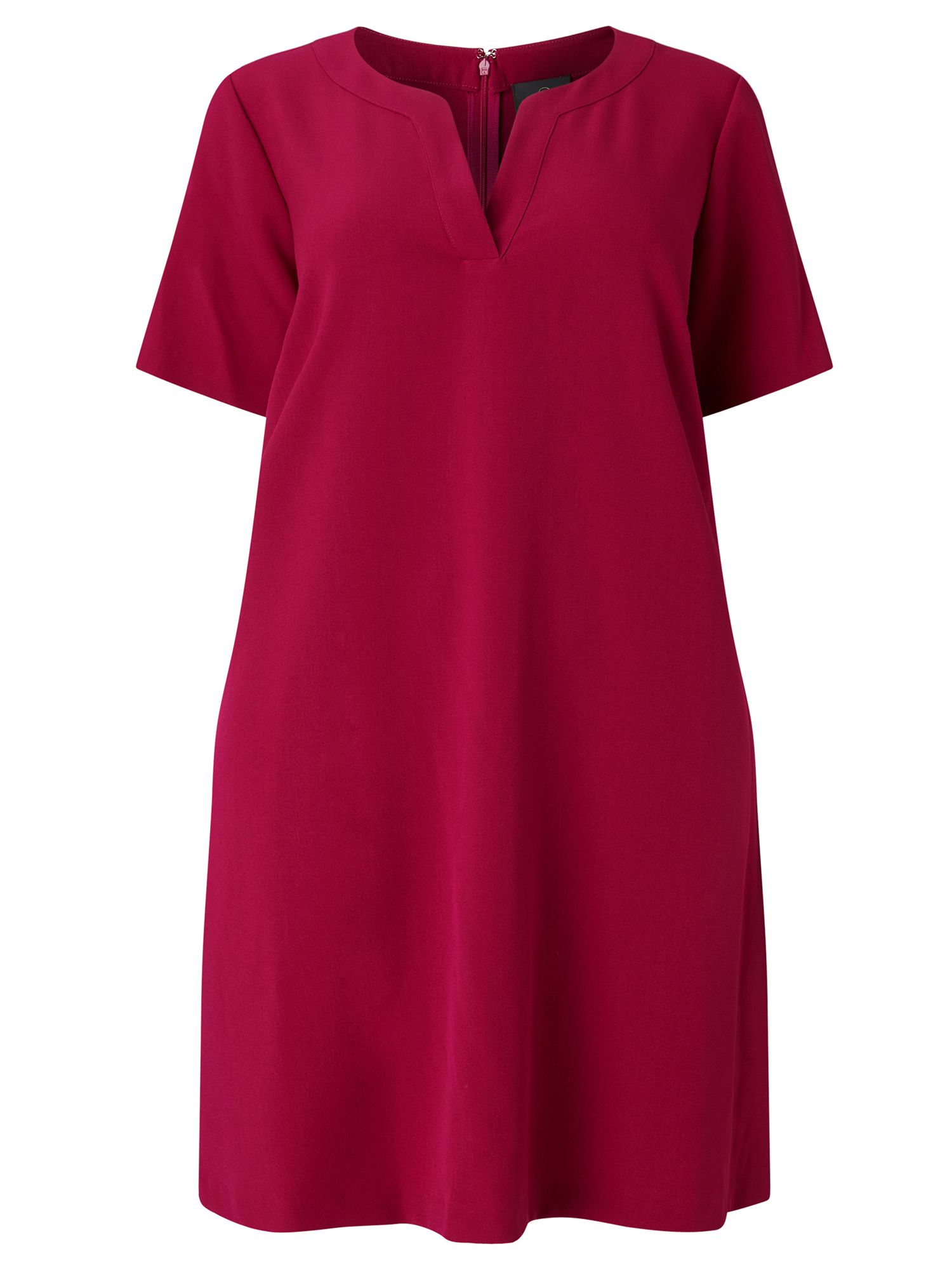 Adrianna Papell Short sleeve trapeze dress, Pink