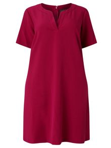 Adrianna Papell Short sleeve trapeze dress