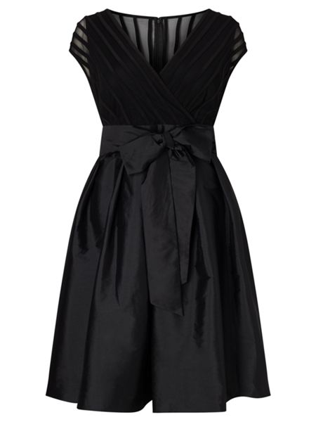 Adrianna Papell C Sleeve Taffeta Fit And Flare Dress