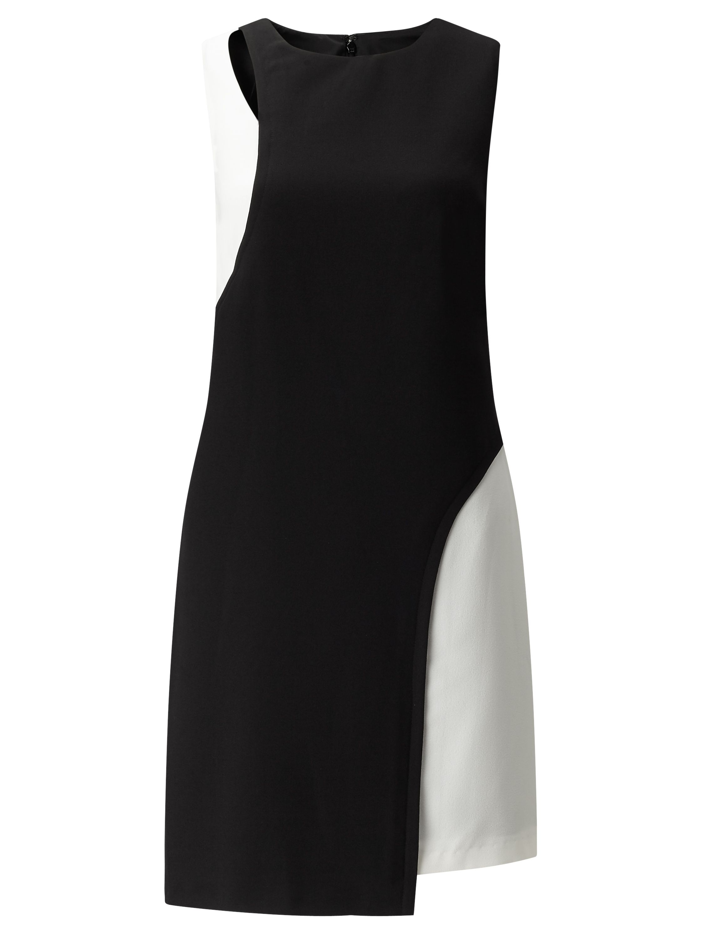 Adrianna Papell Asymmetric CutOut Crepe Dress Black