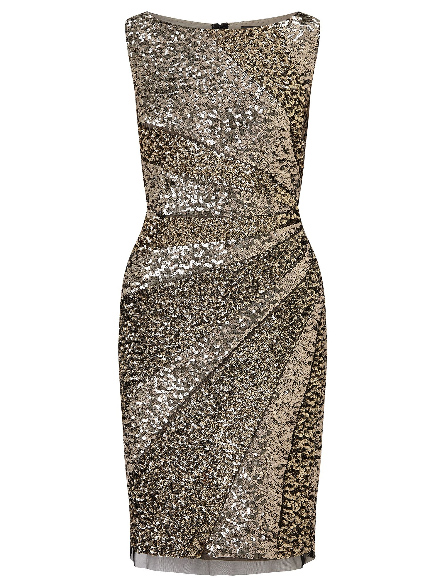 Adrianna Papell Sequin cocktail dress, Brown