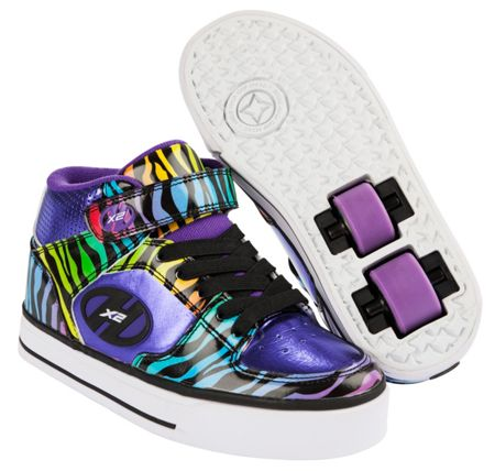 Heelys Purple & Black Multiprint X2 Cruz