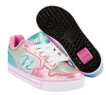 Heelys Silver & Pink X2 Motion Plus