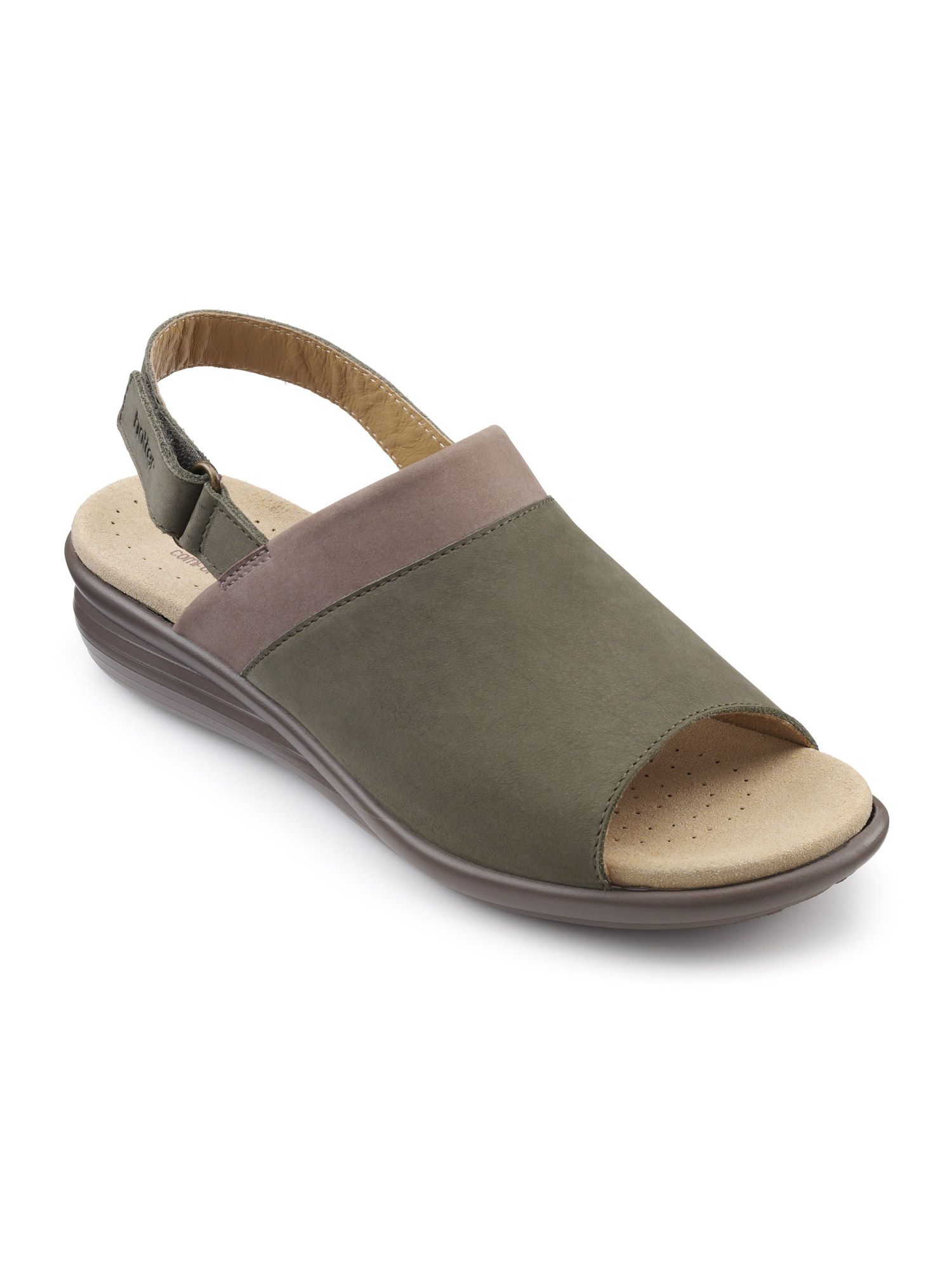 Hotter Augusta Ladies Slingback Sandal, Dark Grey