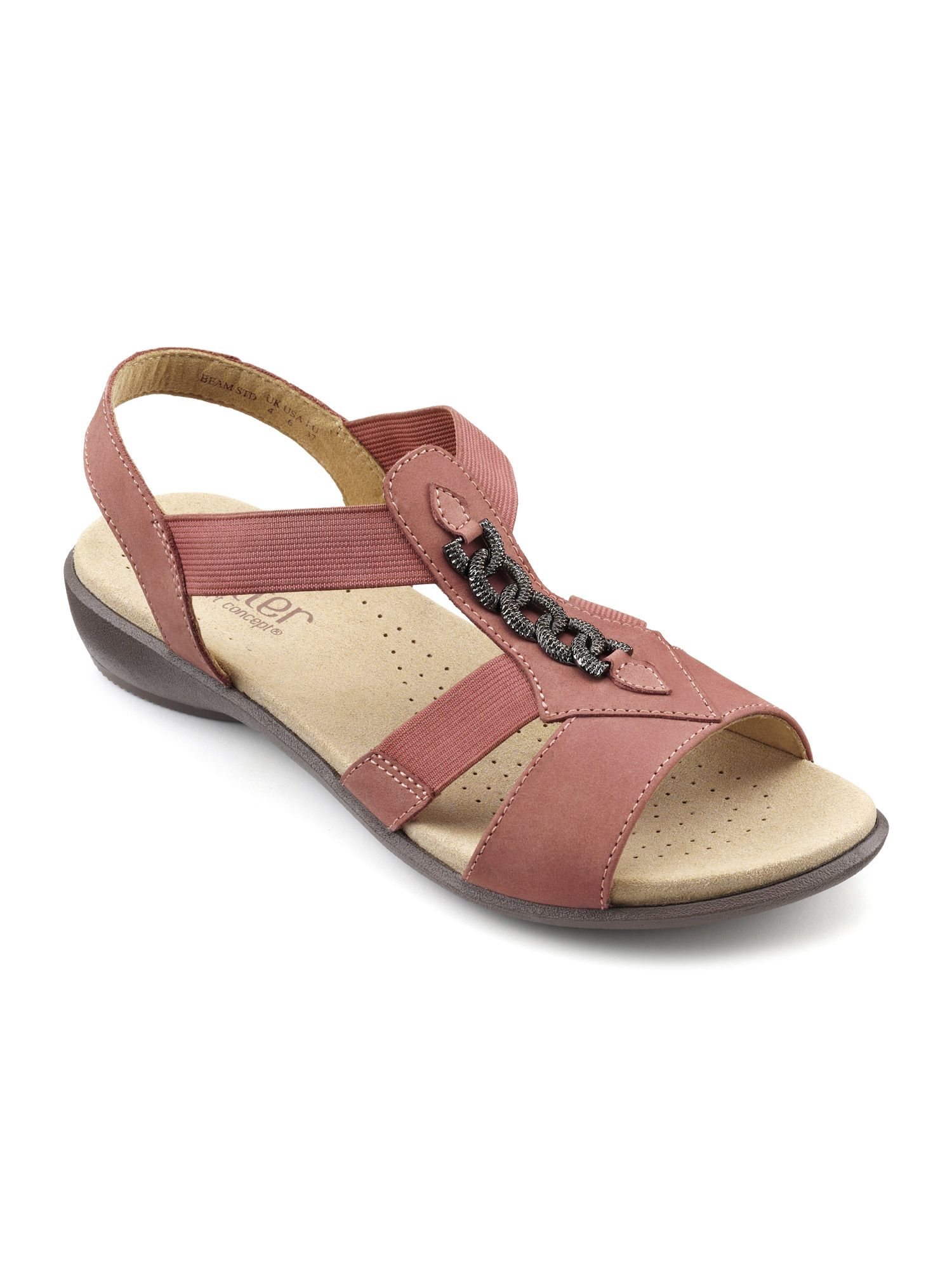 Hotter Beam Ladies Sandal, Salmon