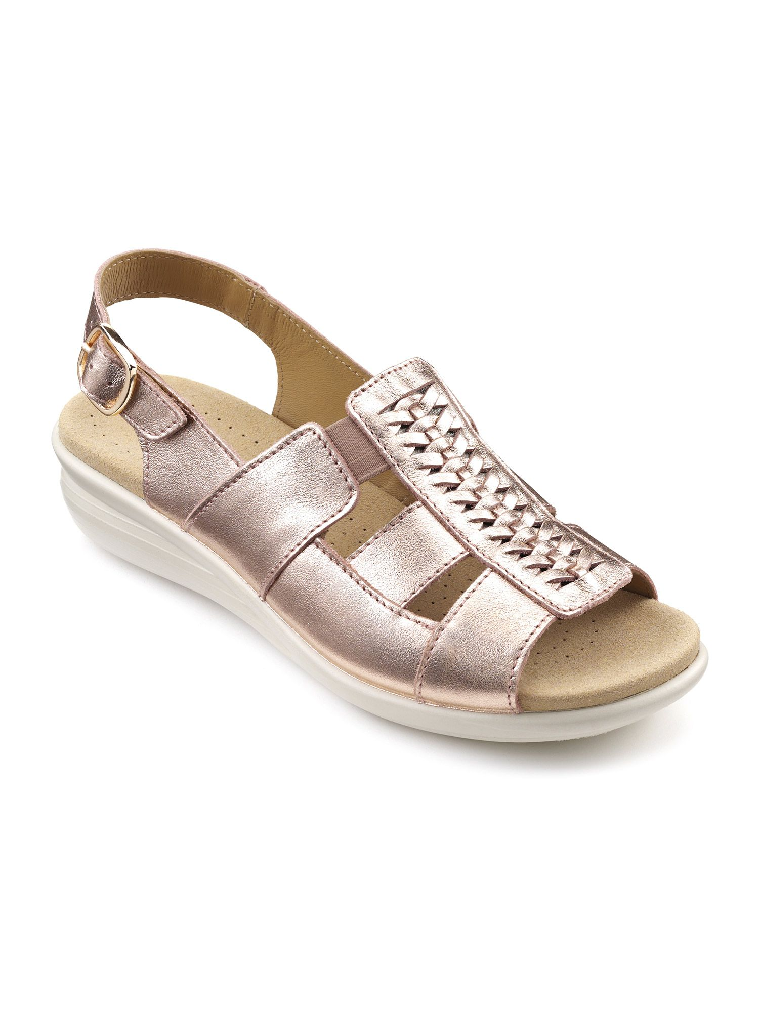 Hotter Candice Ladies Sandal, Rose Gold