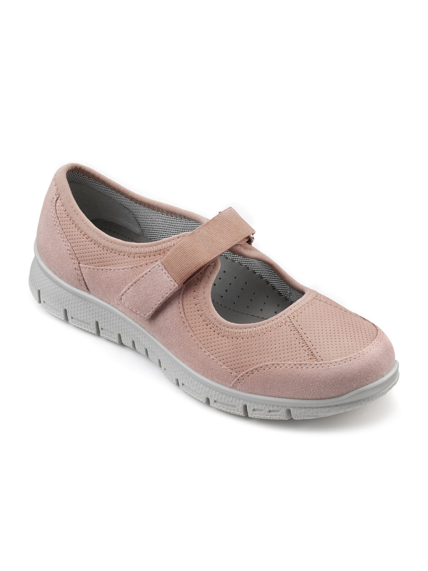 Hotter Aura Ladies Active Shoe, Powder Pink