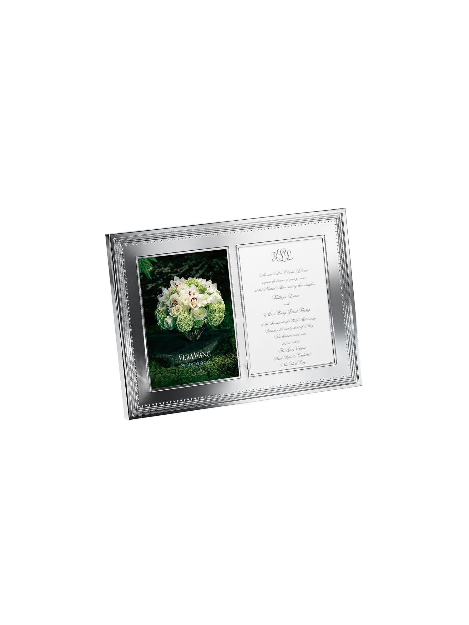 Vera wang grosgrain double invitation frame 5.7in