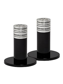 Vera wang with love noir candlestick pair 10cm