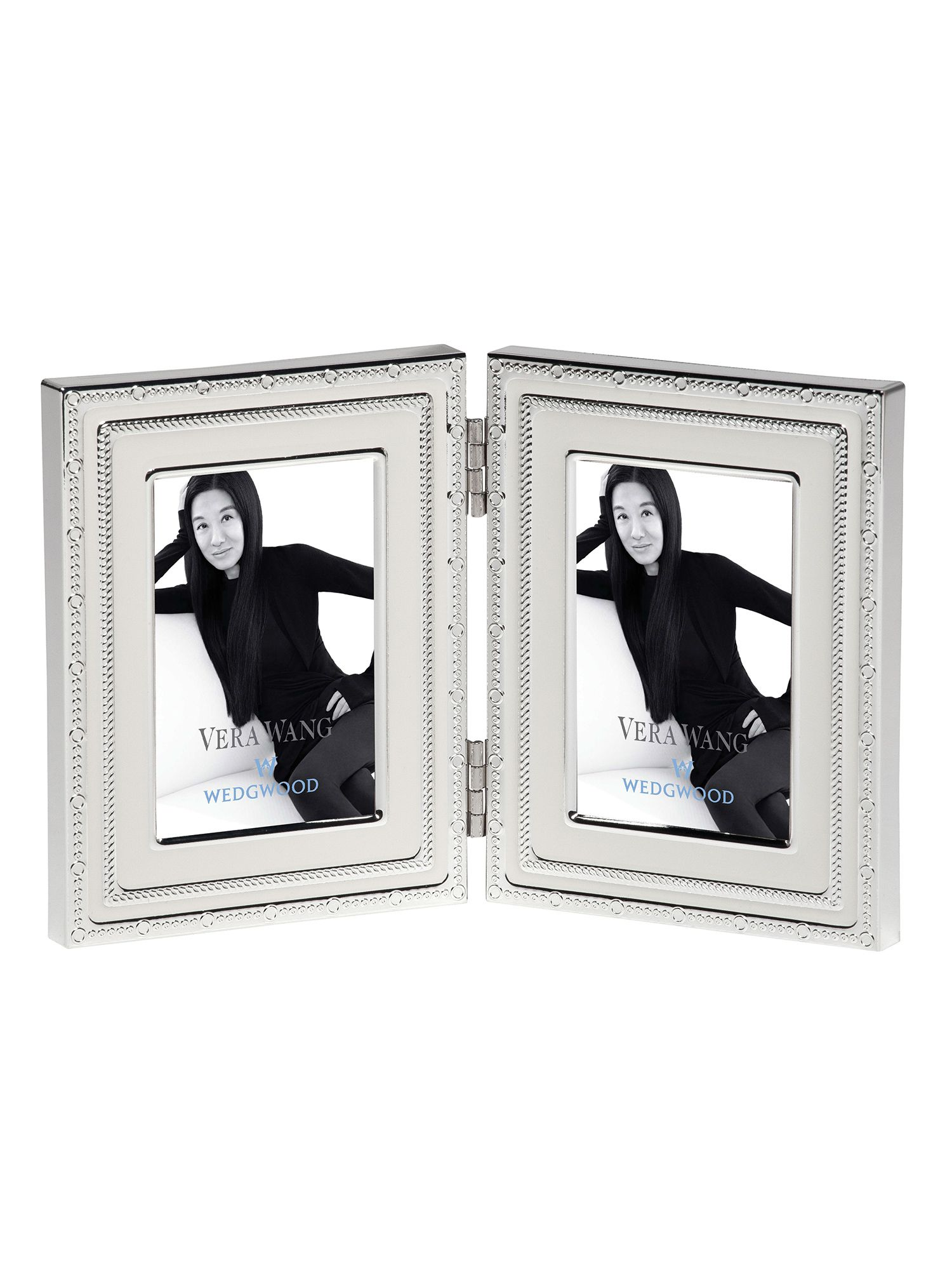 Vera wang with love folding frame 2x3in blanc