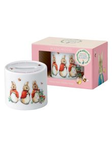 Wedgwood Peter rabbit girls money box