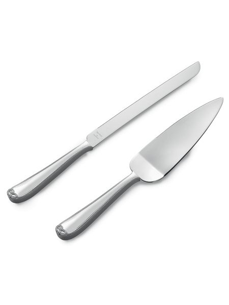 Vera Wang Infinity cake knife and server