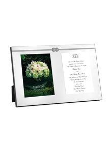 Wedgwood Vera wang infinity double invitation frame