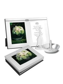 Wedgwood Vera wang infinity photo guest book 5x7in
