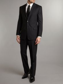 Willoughby regular fit plain wool suit