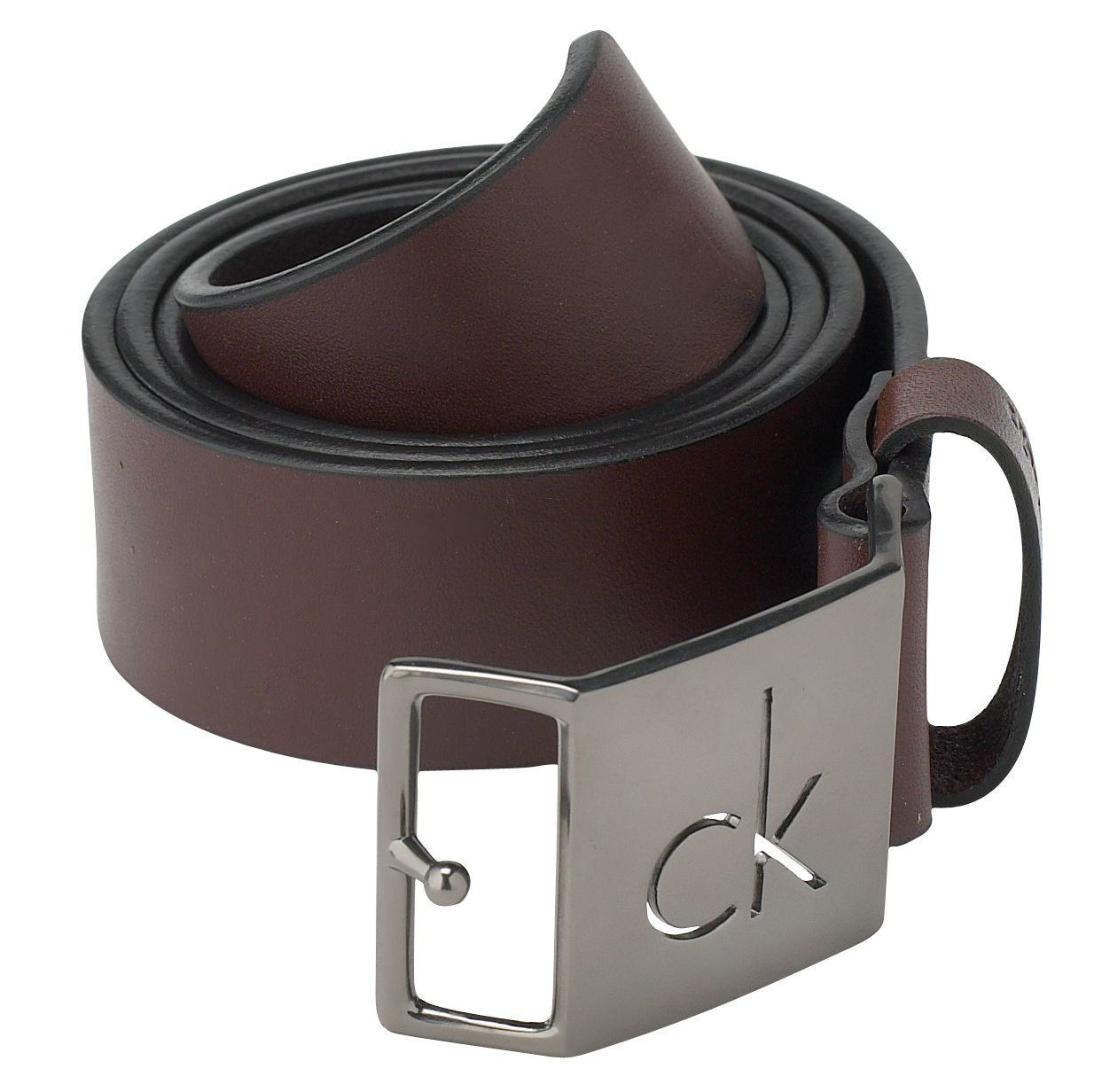 Casual leather logo belt