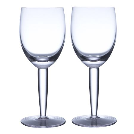 Denby White Set Of Two Red Wine Glasses