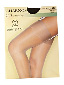 Charnos 24-7 15 Denier sheer stockings 2 pair pack