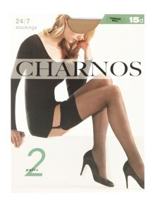Charnos 24/7 2 pair pack 15 denier sheer stockings
