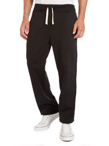 Drawstring cotton tracksuit bottoms