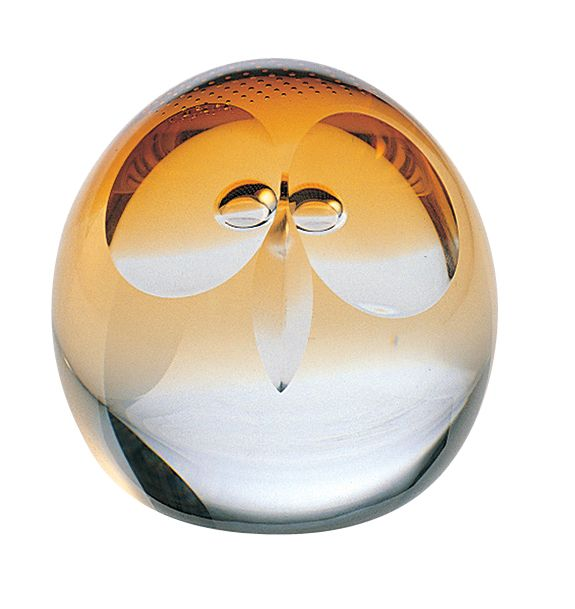 Glass small wise owl paperweight - CLICK FOR MORE INFORMATION