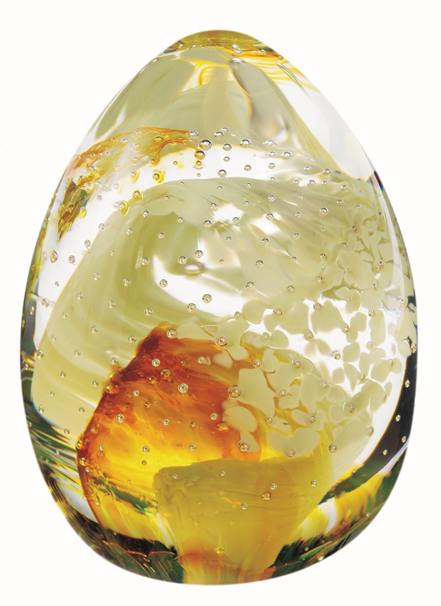 Glass blessings gold paperweight - CLICK FOR MORE INFORMATION