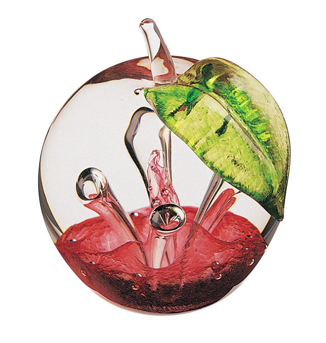 Glass windfall ruby paperweight - CLICK FOR MORE INFORMATION