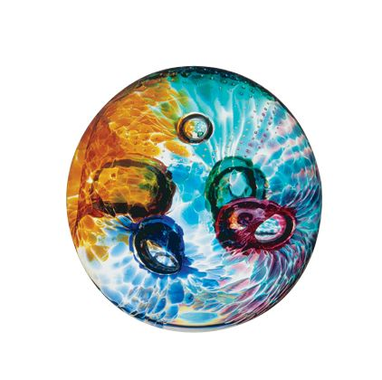 Glass aura paperweight - CLICK FOR MORE INFORMATION