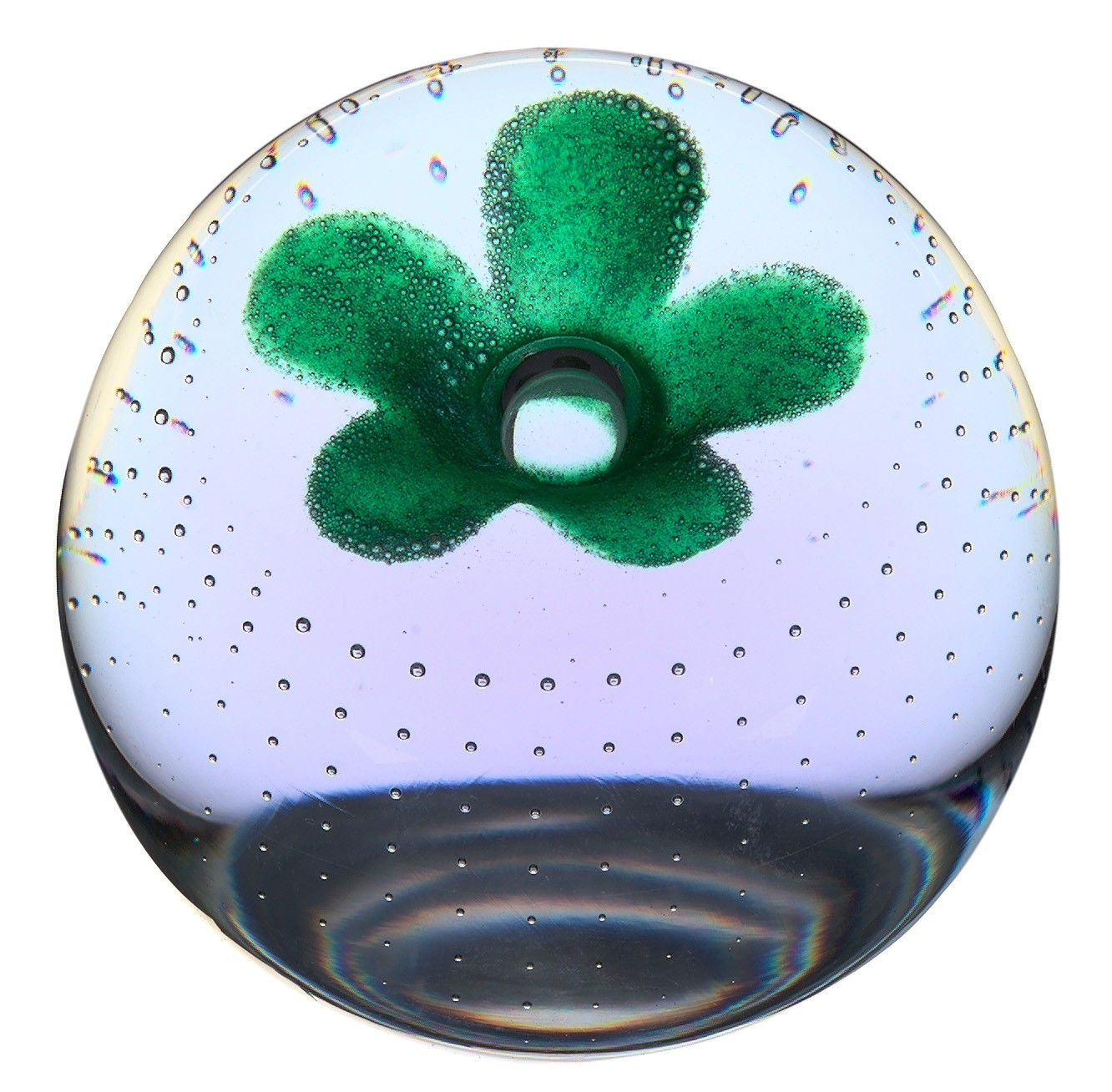 Glass pop flowers paperweight - CLICK FOR MORE INFORMATION