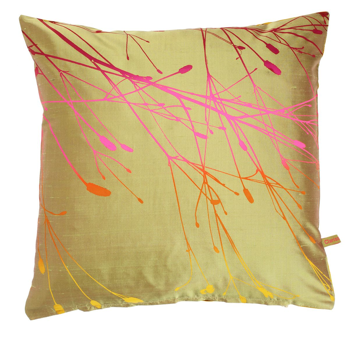 Sea holly rainbow boudoir cushion