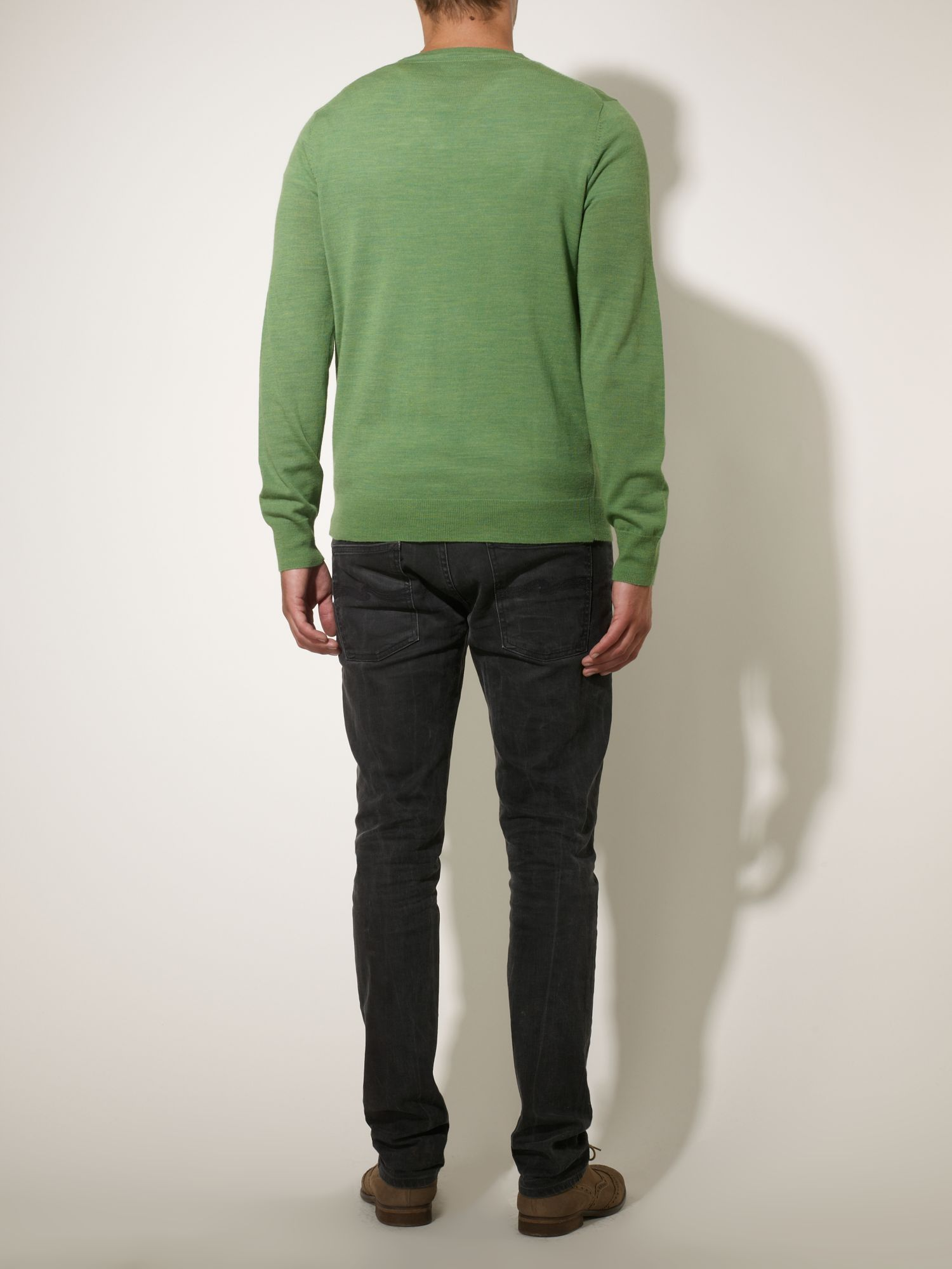 Loughton merino V-neck jumper