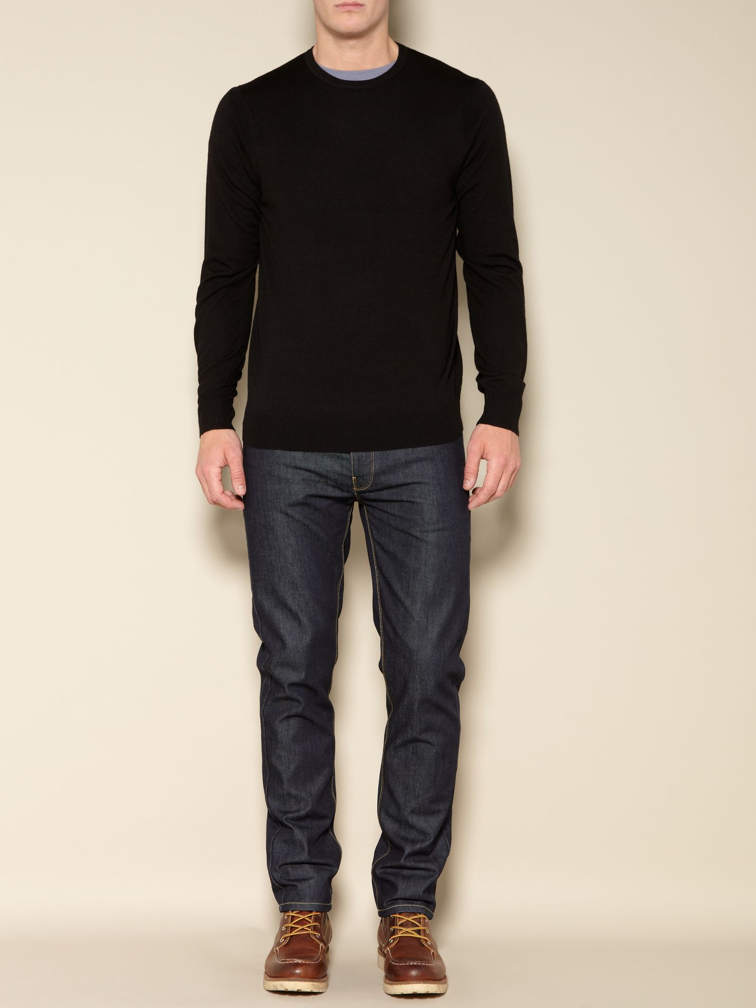 Langley crew neck merino jumper