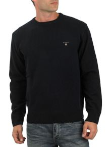 Lambswool crew-neck jumper