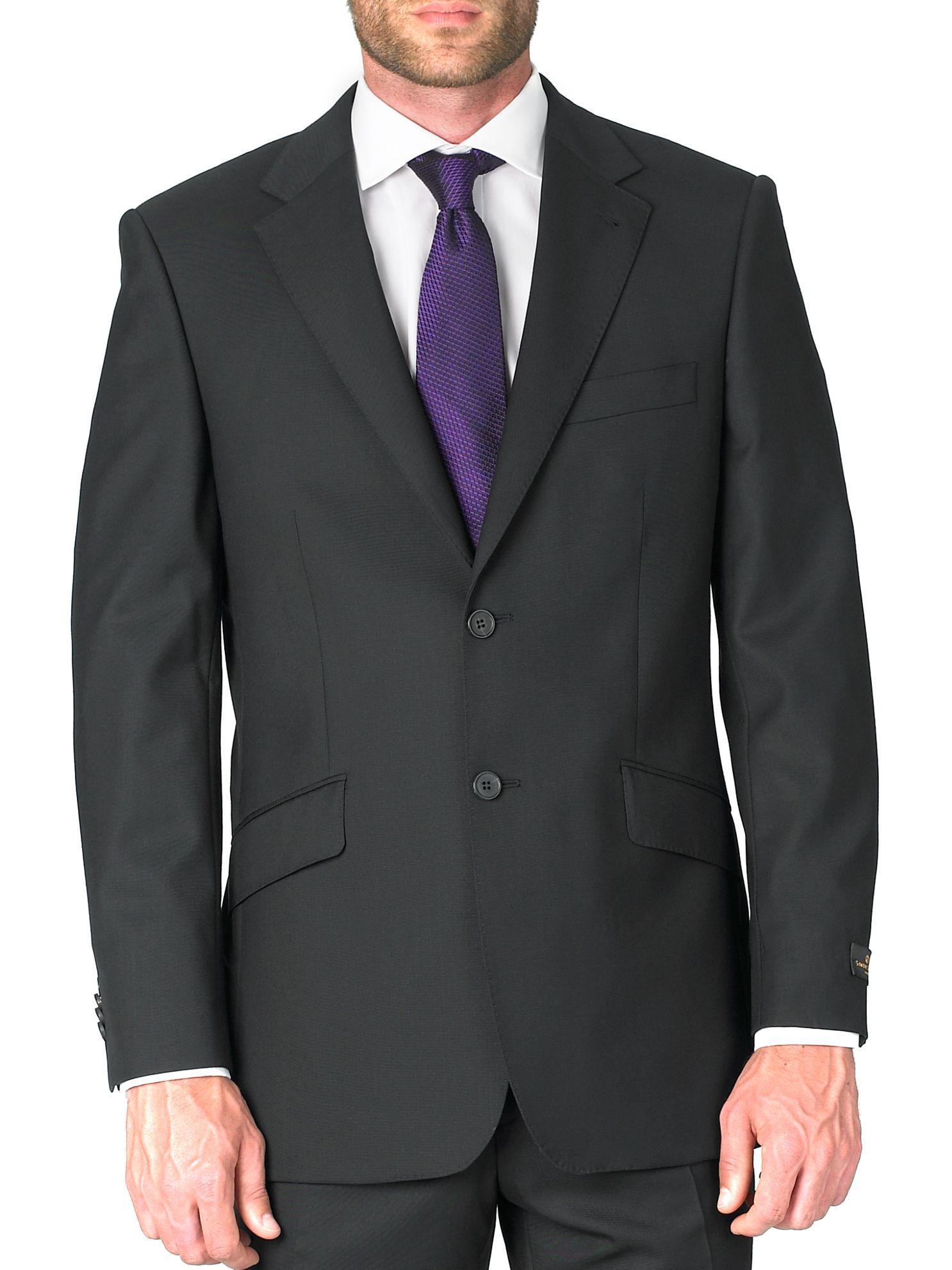 Men's Simon Carter Formal single-breasted wool jacket, Black