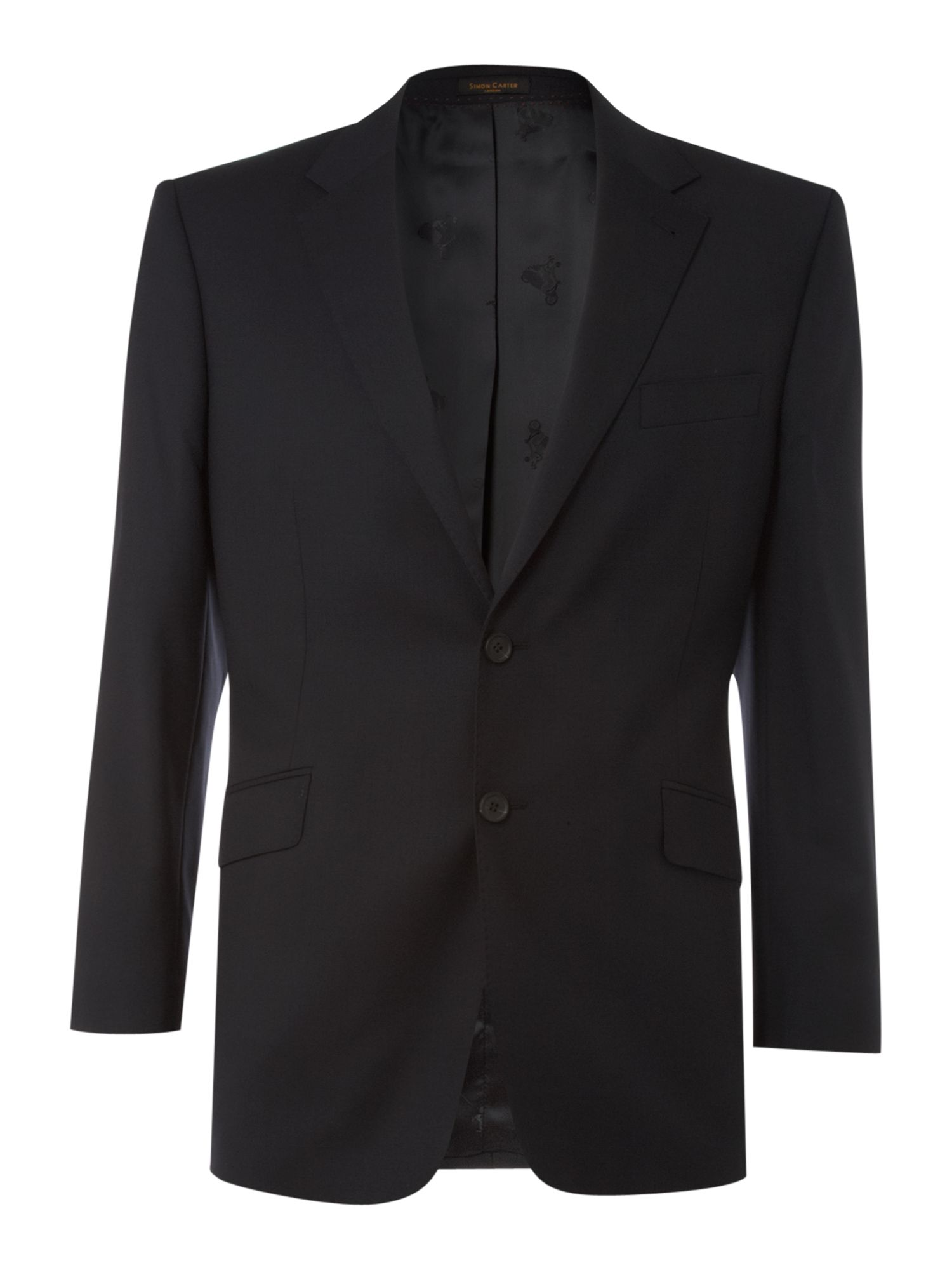 Men's Simon Carter Formal single-breasted wool jacket, Navy