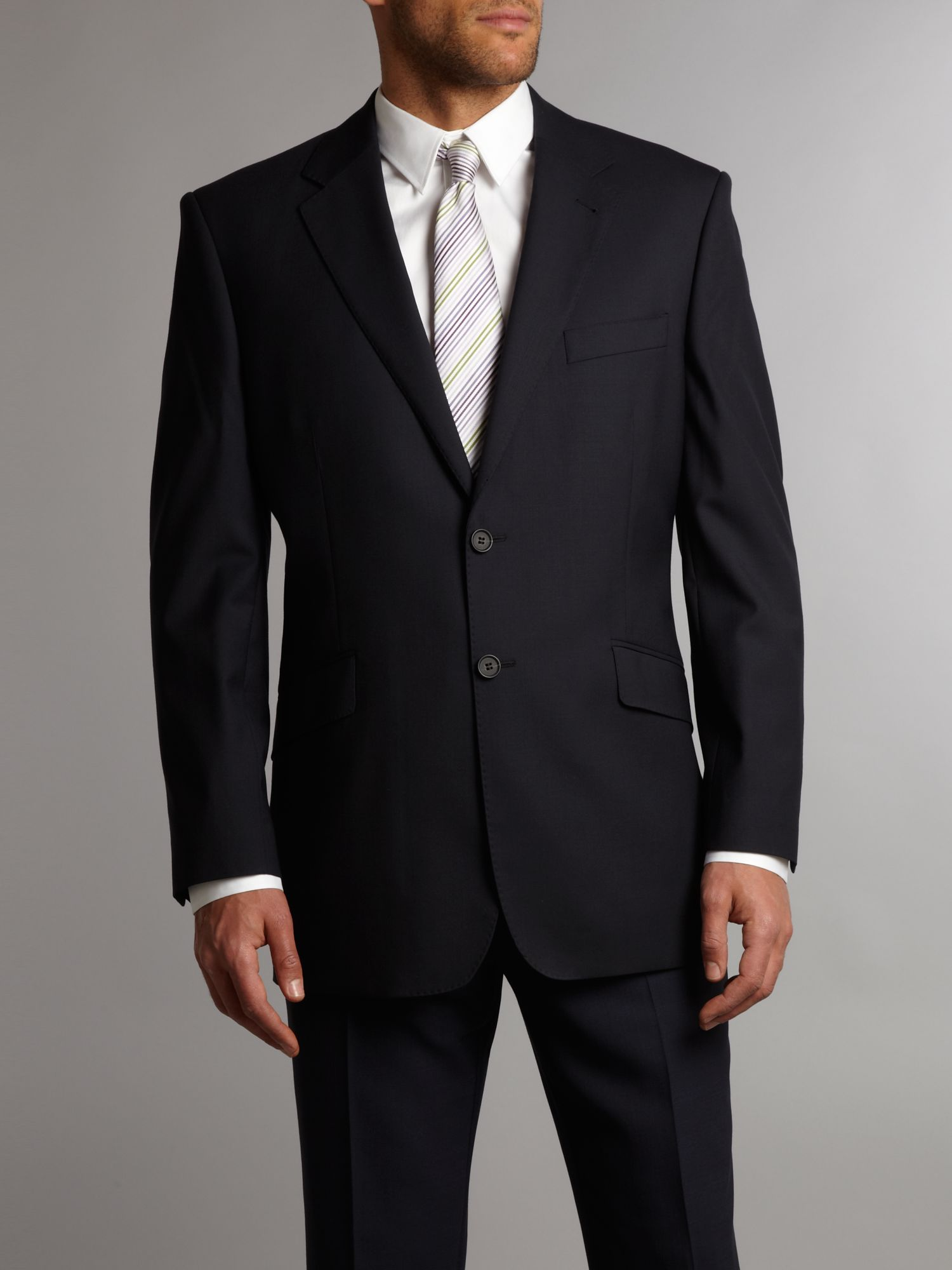 Formal single-breasted wool jacket