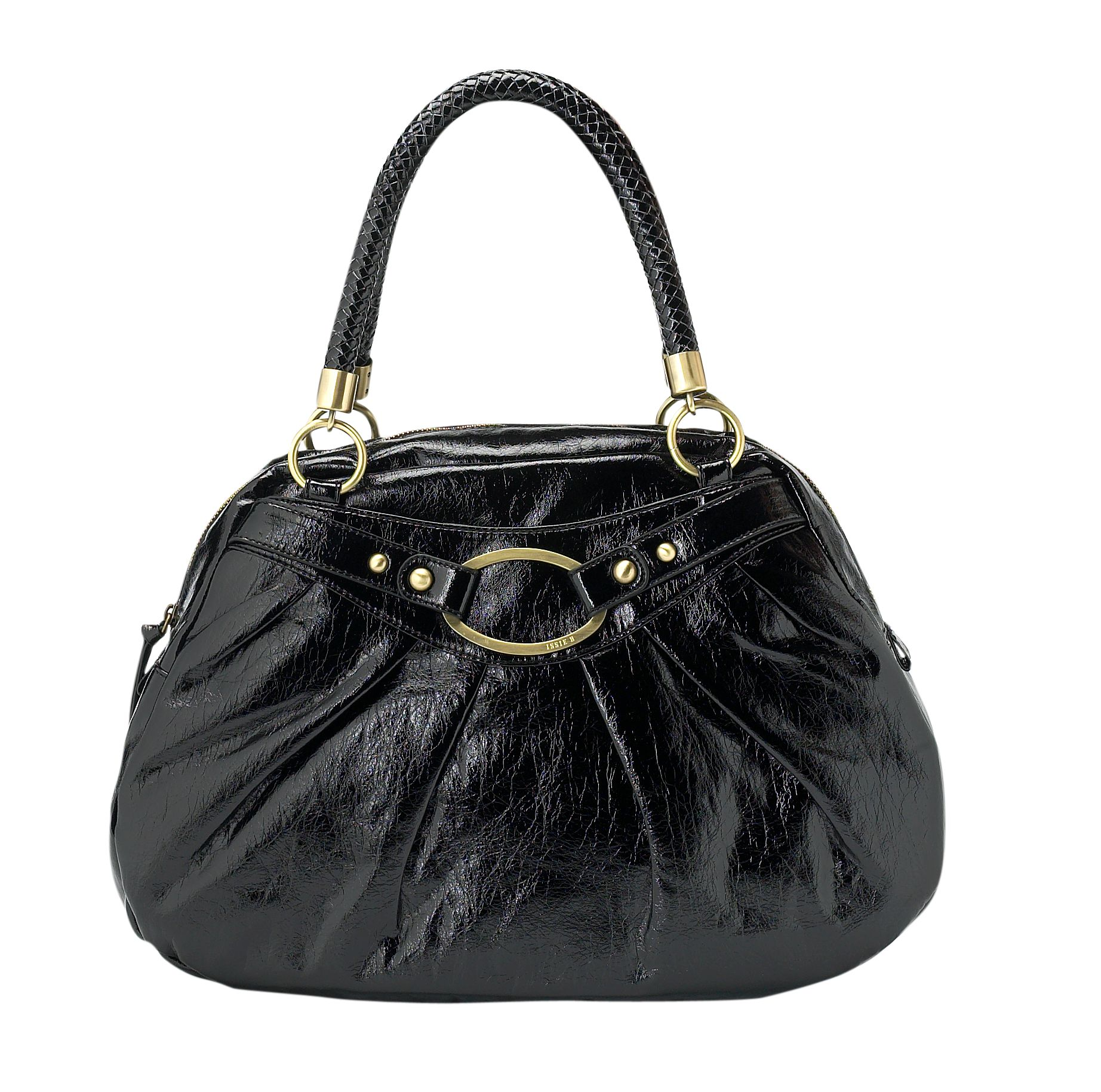 Issie B Poppy large pu patent shoulder tote bag
