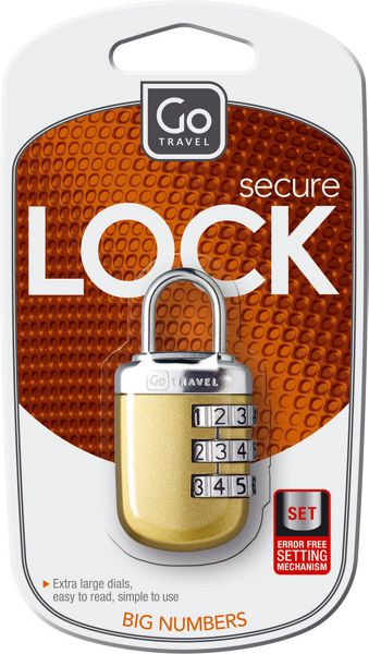 Go Travel Big wheel padlock, assorted colours