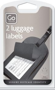Go Travel Leather Luggage Labels