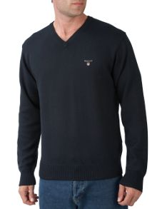 Gant V-neck cotton jumper