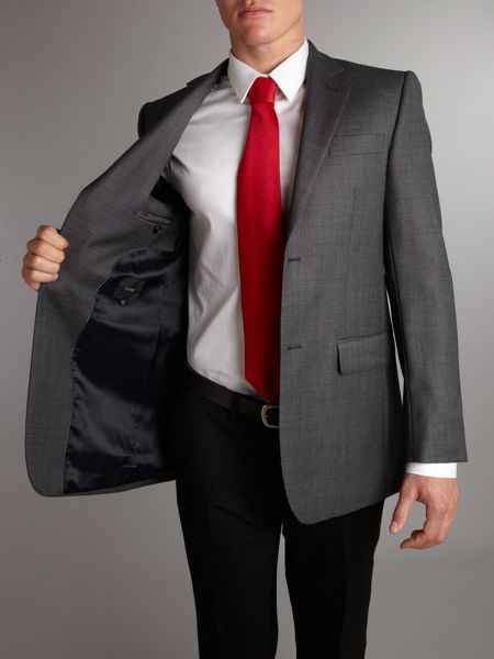 Linea Formal single-breasted birdseye jacket