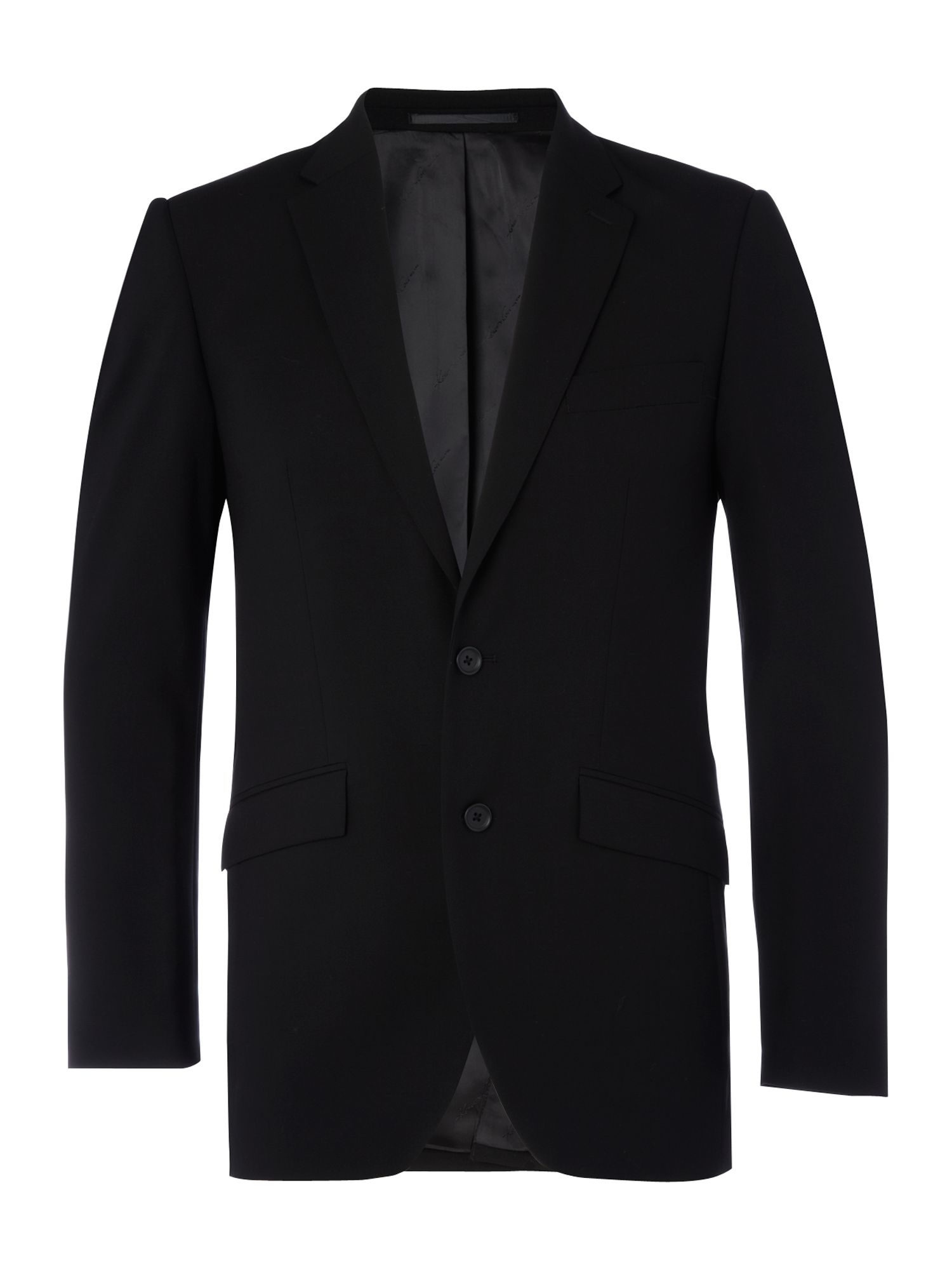 Ultra black three piece suit jacket