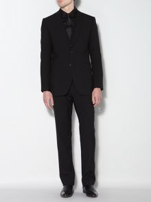 Ultra black three piece suit trouser