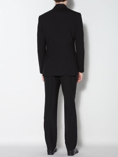 Ultra black three piece suit trousers