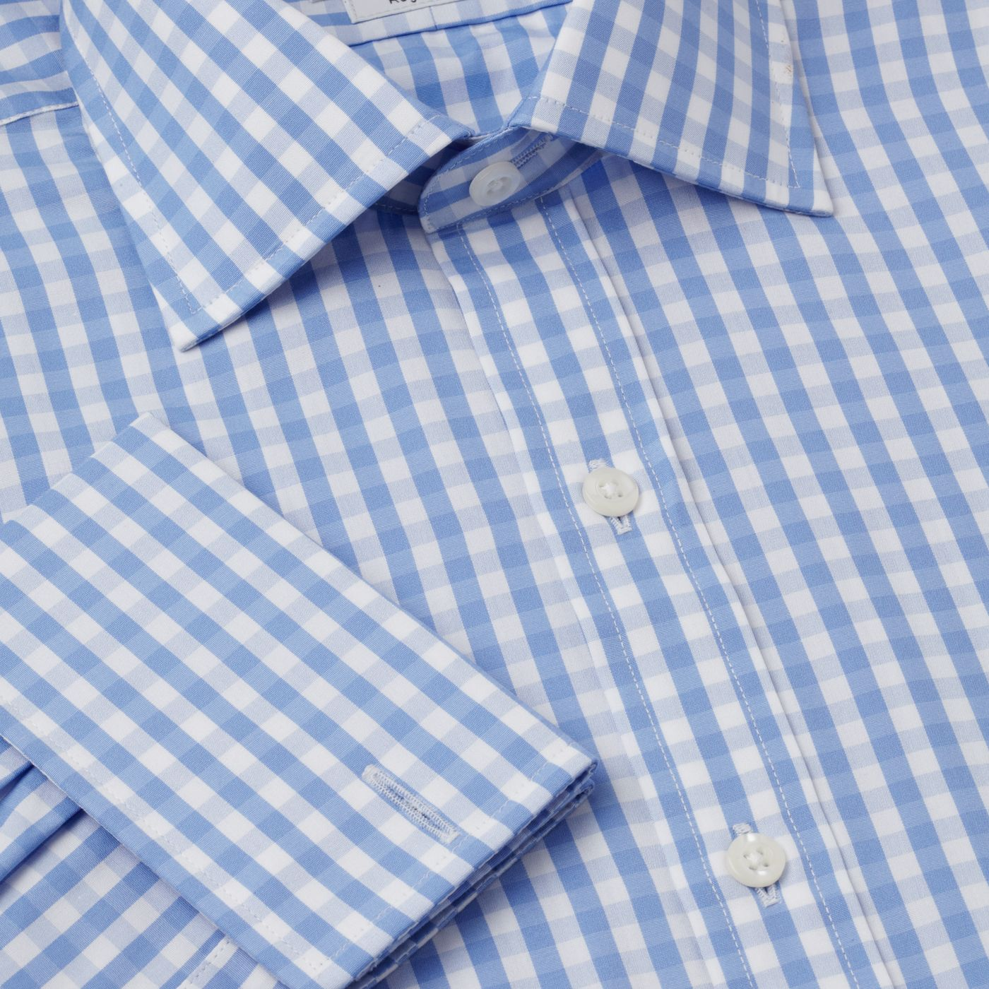 Check poplin Prince of Wales shirt