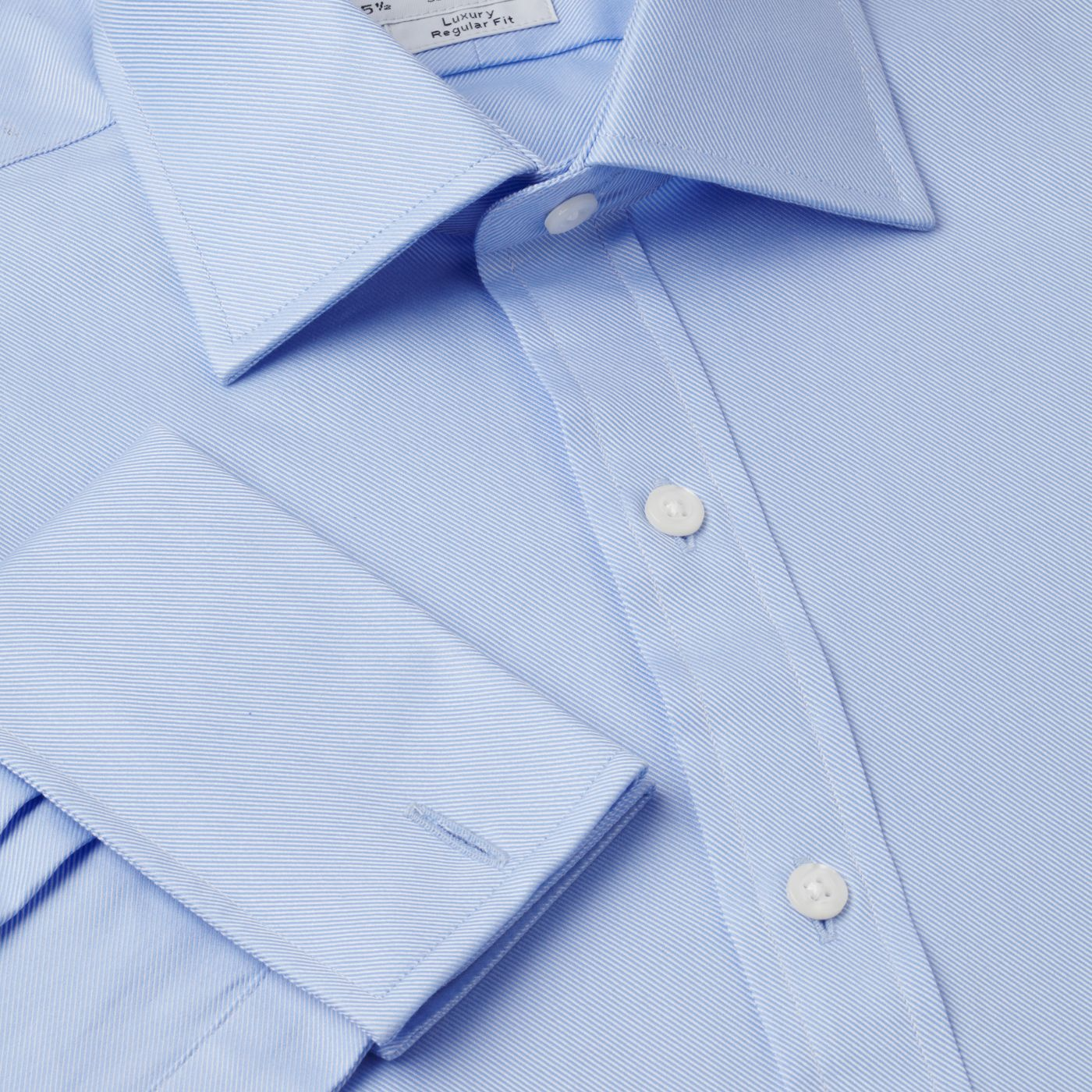 Plain luxury twill Prince of Wales shirt